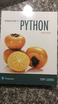 Starting out with Python Textbook Hull, J8X 3N8