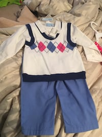 New with tags boys 12-18 months shirt vest and pants