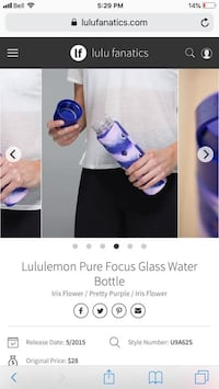 Lululemon water bottle