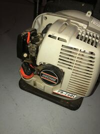 white and black Porter Cable air compressor