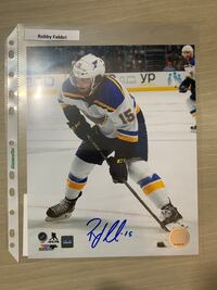 Robby Fabbri Signed 8x10 Picture- St. Louis Blues Richmond Hill, L4C 6W1