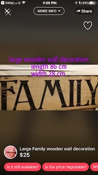 Family wall decoration