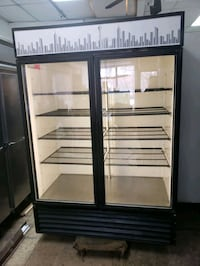 Commercial 2 door glass display refrigerator cooler merchandiser