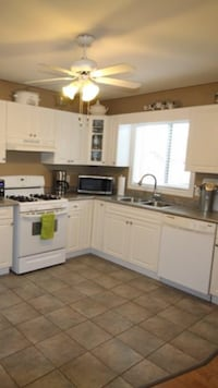 White Appliances and Flooring