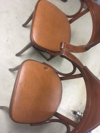 Dining chair coffee bar Vintage wood kitchen chairs pair cafe