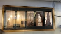 Iconic new york city photographs gold framed wall decor Alexandria, 22312