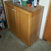 Beauty dresser oak cabinet West Babylon, 11704