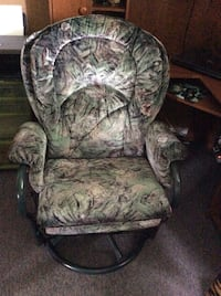 gray and green floral fabric sofa chair Québec, G2B