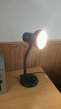 Adjustable black desk lamp. Works perfectly! Kingston