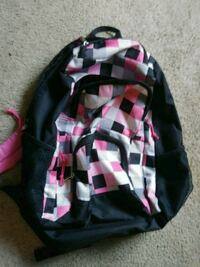 black, pink, and white backpack Bremerton