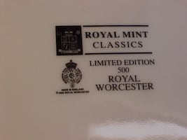 New With Box Royal Worchester Lady Britannia Limited 2009