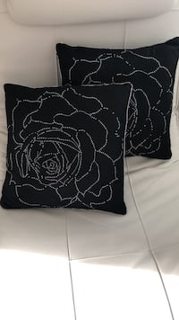 Two black-and-gray floral throw pillows each 10 Vaughan, L4H 3W9