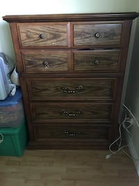 5 drawer dresser with 2 drawer bedside tables and Queen headboard and dresser with mirror.  (Mirror not shown) Surrey, V3S 1P5