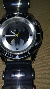 silver batman face analog watch Augusta, 30906