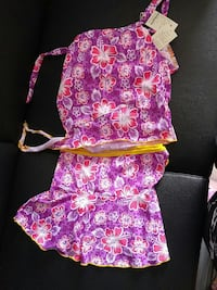 purple, white, and white floral sleeveless top Waterloo, N2L 3V2