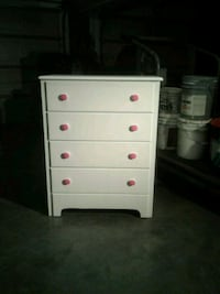 white and pink wooden 4-drawer chest Hagerstown