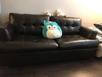 leather 3 seater sofa bed (pick up only) North Vancouver, V7P 1R6