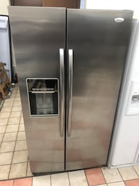 36x70 Whirlpool gold stainless steel refrigerator it works great but won't dispense ice sold as is 100 days warranty  Baltimore, 21222