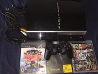 PS3 system, 1 controller and 3 games  Burnaby, V5B
