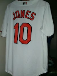 Men's Size Medium Orioles Baseball Button Jersey 35 km