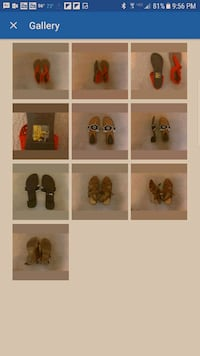 3 Pairs Women's Sandals Size 9.5