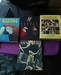 several assorted-titled books