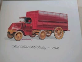 Set of Mack truck 60th anniversary rare antique prints
