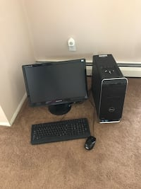Black dell computer monitor and keyboard Northport, 11768