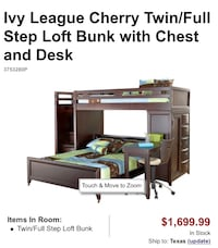 Cherry bunk beds and chest   Copperas Cove, 76522