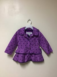 Girls LONDON FOG Polkadotted hooded fleece lined jacket 2T Manasquan, 08736