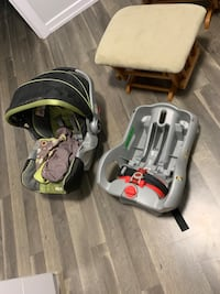 Graco car seat and cover