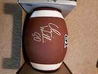CFL Wilson ball signed personally by Chris william 701 km