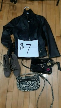 Jacket boot and purse $7
