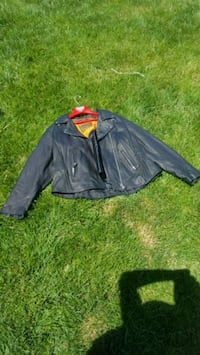 black and yellow leather jacket Roy, 84067