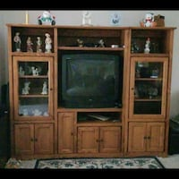 Wooden Entertainment center Inver Grove Heights, 55076