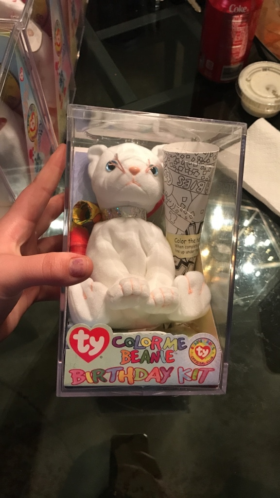 Ty color me beanie baby