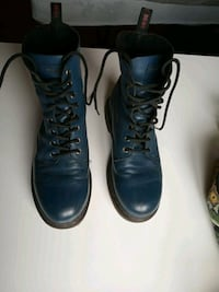 Diesel Boots, leather blue boots. City of Bristol, BS3 5LU