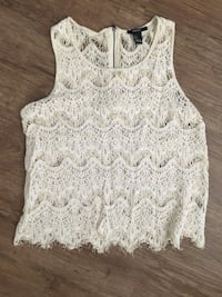 Forever 21 lace tank top size small Oklahoma City, 73145