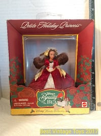 Vintage Disney Petite Holiday Princess Beauty - Beast Belle Red Dress Mattel Disney Holiday Musical Collection UNOPENED 141 mi