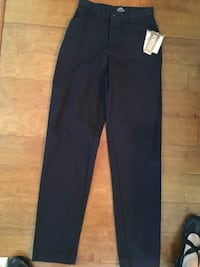 Black Lee Casuals stretch slacks, new with tags, sz 8 Long Gonzales, 70737