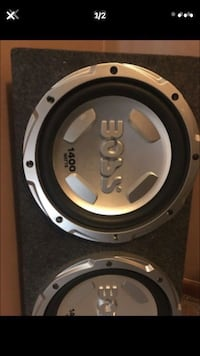 Black and gray Boss subwoofer Colfax, 27235