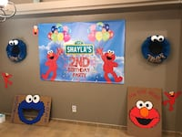 2nd Birthday Party Decorations (Elmo and Cookie Inspired) Las Cruces