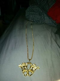 gold-colored cross pendant necklace Barrie, L4N 8R2