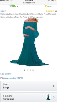 Mermaid Gown with Long Train for Maternity Pictures Carencro, 70520