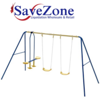 New- Metal A-Frame Four Seat Swing Set