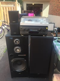 Black and gray home theater system Toronto, M9M 2P4