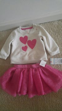 New with tags glittery skirt set 3-6months Gaithersburg, 20878