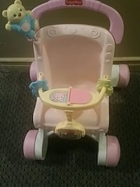 baby's white and pink push walker  Surrey