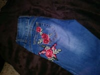 blue and red floral denim shorts Reno, 89506
