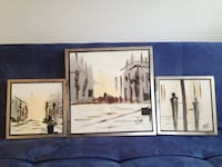 3 Piece Oil Painting Set. Selling as is for $5 Toronto